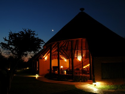 Mopane Bush Lodge at Night (hi-res image)