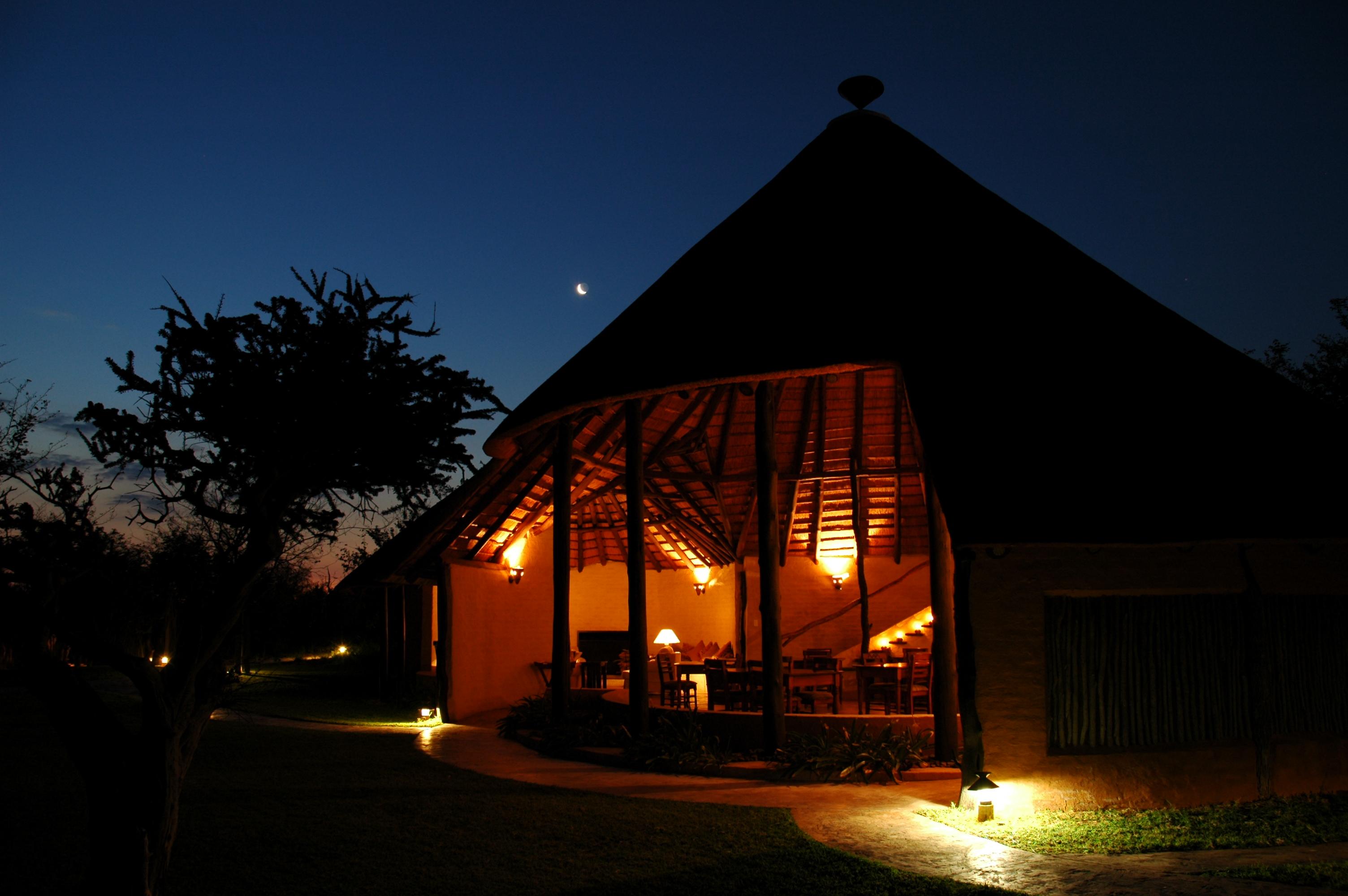 Mopane Bush Lodge Night