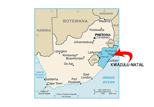 Kwazulu-Natal South Africa Map