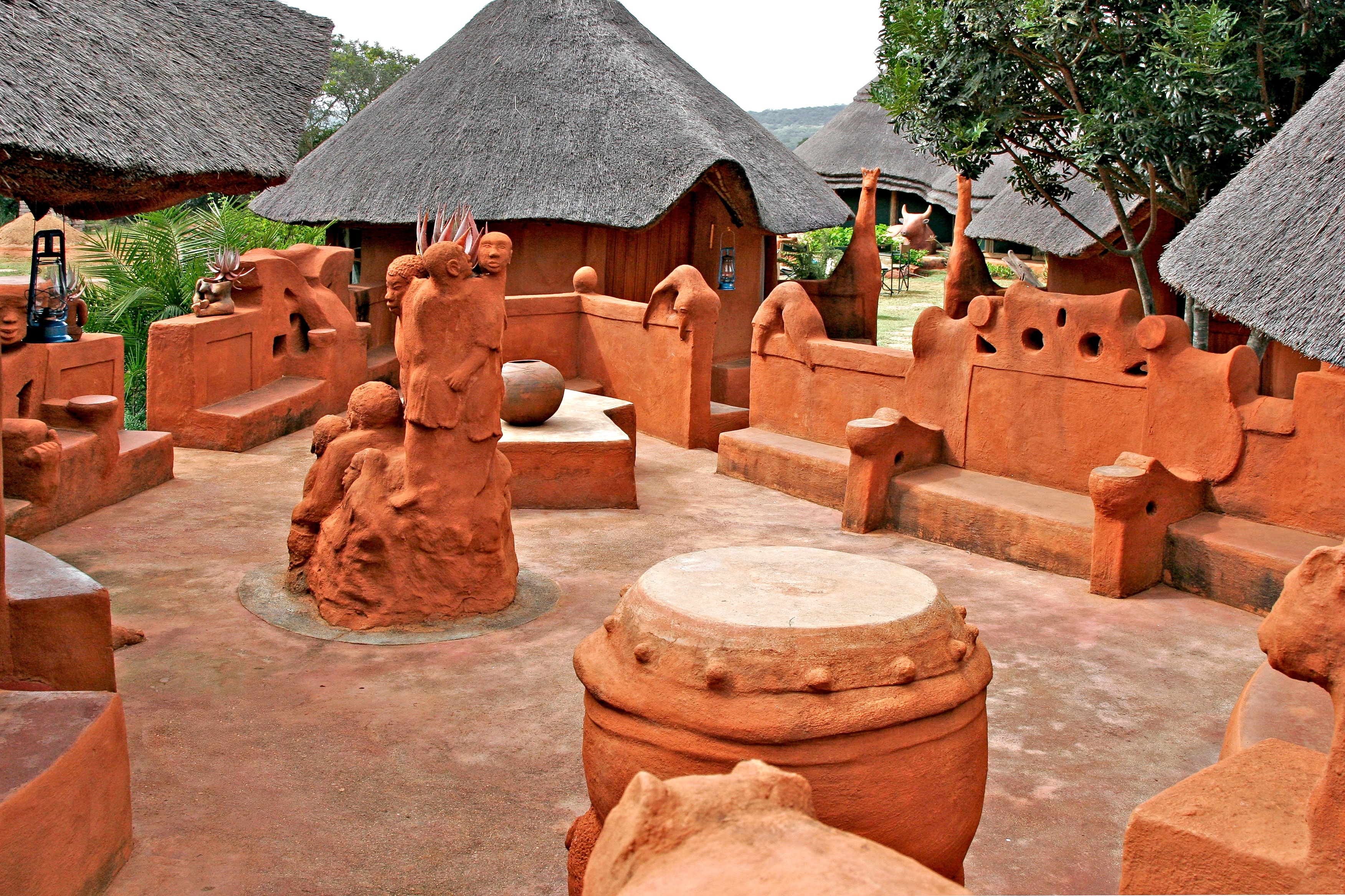 Leshiba Wilderness - Venda Village Lodge Courtyard by Noria Mabasa - Limpopo South Africa