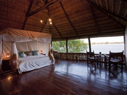 Chundukwa River Lodge Honeymoon Chalet Interior Upper Zambezi Zambia (hi-res JPG)