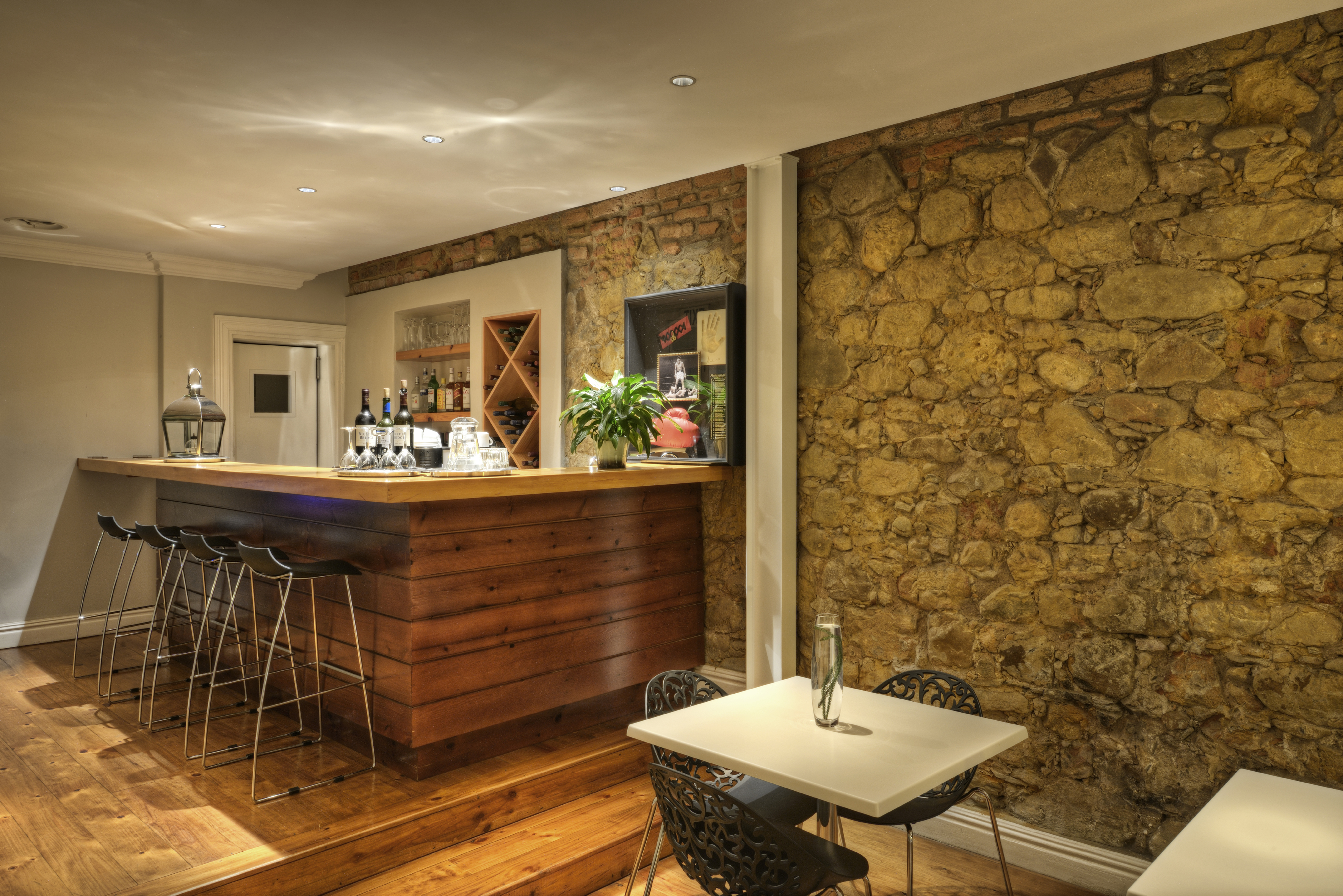 The bar at The Three Boutique Hotel, Gardens District of Cape Town