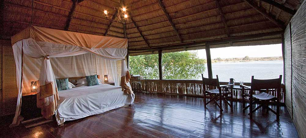 Chundukwa River Lodge Honeymoon Chalet inside Upper Zambezi Zambia