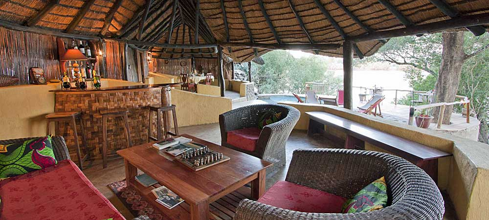 Chundukwa River Lodge guest area Upper Zambezi Zambia