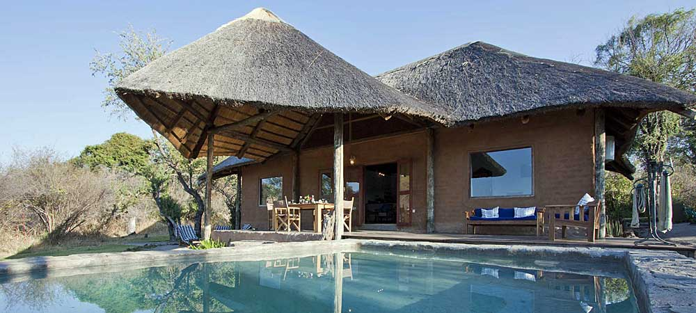 Chundukwa River Lodge Private Cottage pool Upper Zambezi Zambia