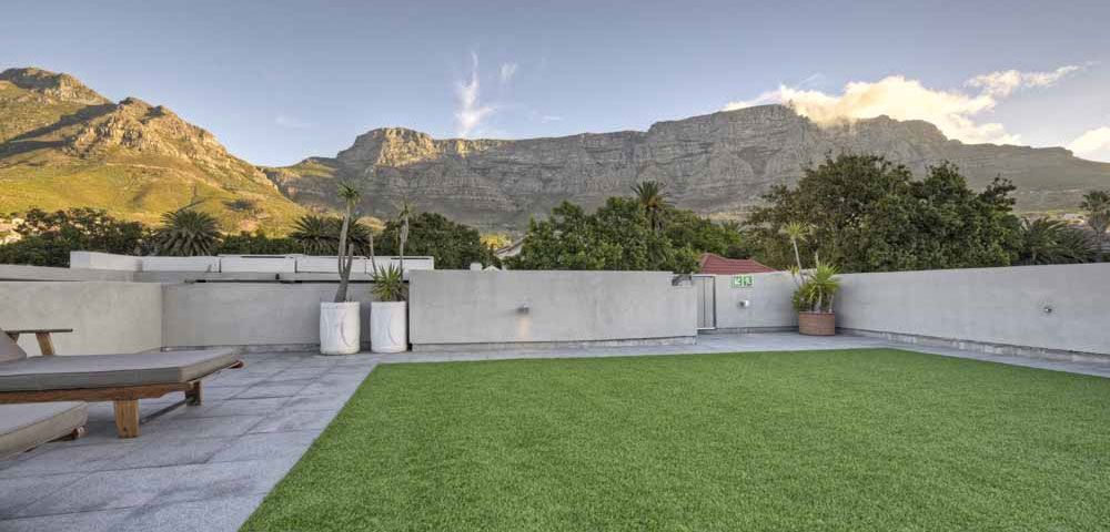 Roof deck at The Three Boutique Hotel Gardens District Cape Town