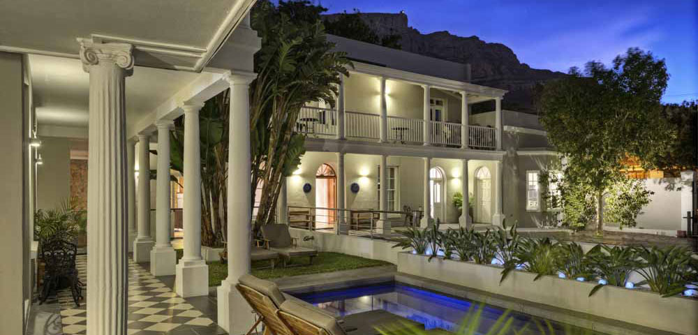 The Three Boutique Hotel at night Gardens District Cape Town